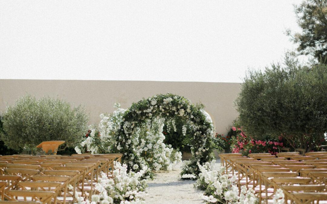 Seaside wedding at Ile de Bendor