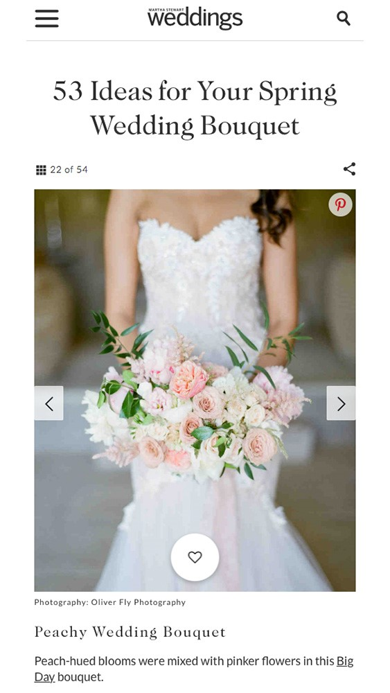 Spring Florals on Martha Stewart Weddings